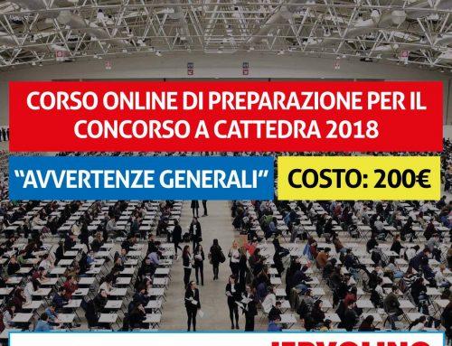 Corso ONLINE di Preparazione per il Concorso a Cattedra 2018