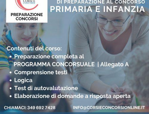 CORSO DI PREPARAZIONE AL CONCORSO PRIMARIA E INFANZIA