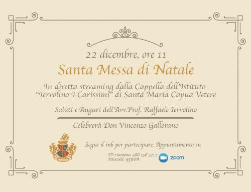 Martedì 22 dicembre 2020 | ore 11 | SANTA MESSA DI NATALE IN DIRETTA